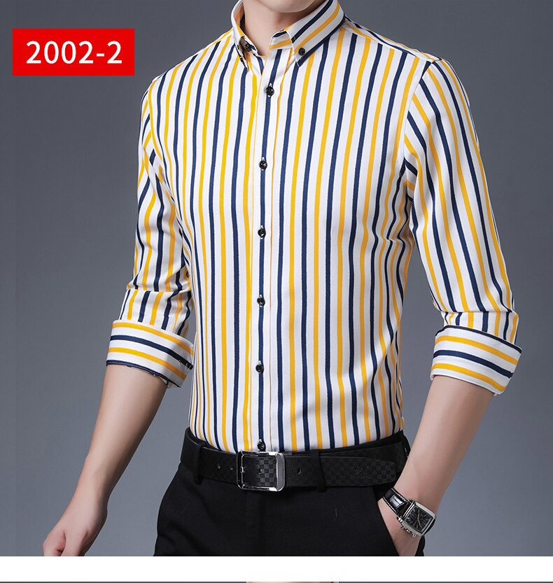 2020-New-Stripes-Stretch-Cotton-Mens-Dress-Shirts-Long-Sleeves-Slim-Fit-for-Male-Work-Business-Attire-Social-Shirts-1005001316012286