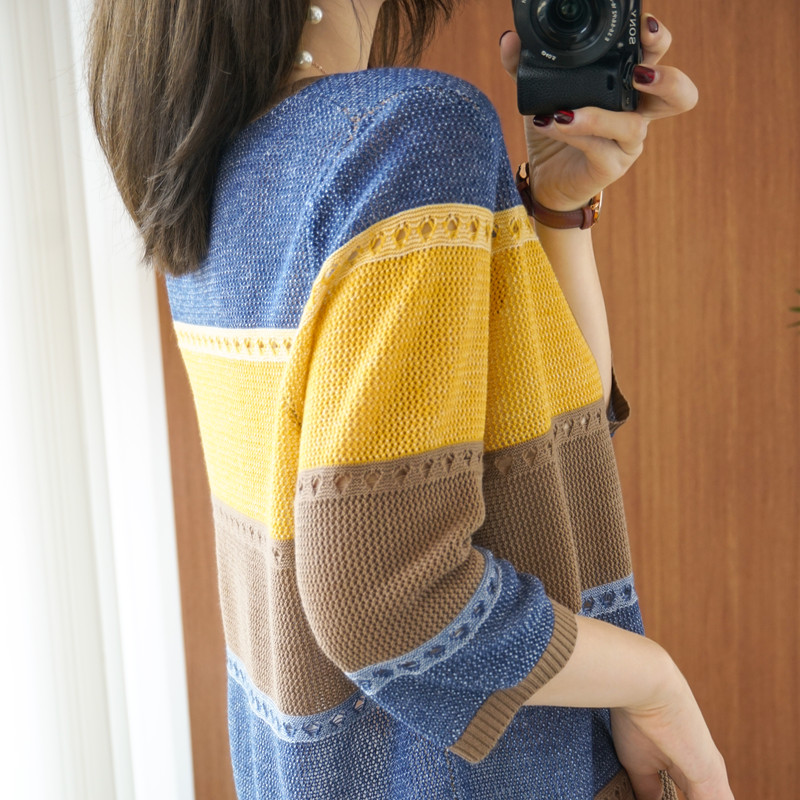 Lucyever-Womens-Autumn-Winter-Striped-Sweater-Colorful-Patchwork-Loose-Pullovers-Women-Plus-Size-3X-Casual-Knitwear-Tops-Jumper-4001365850268